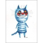 The striped blue cat